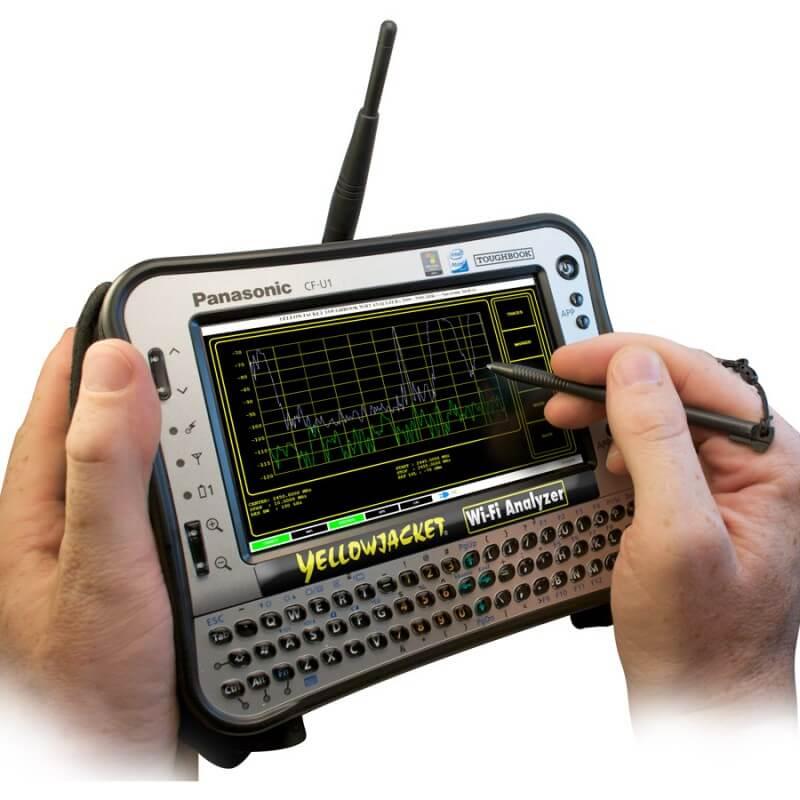 Yellowjacket-TABLET Wi-Fi Analyzer: https://www.bvsystems.com/product/yellowjacket-tablet-wi-fi-analyzer/
