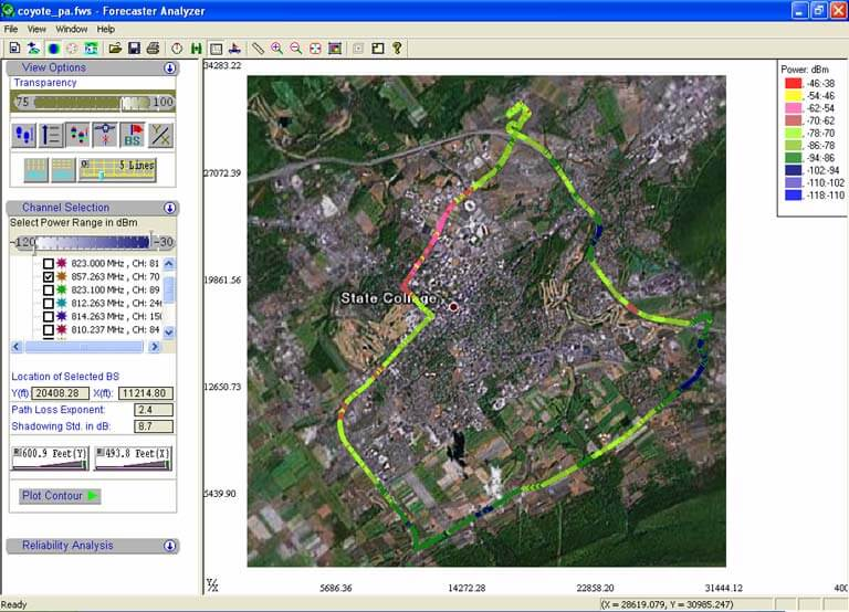 Forecaster GPS-Based Mapping Coverage Software